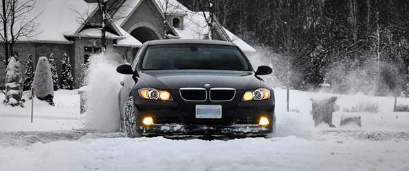 "Snow Photoshoot with a BMW 3-Series: ""Mellow Yellow"""