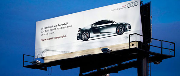 Audi's latest billboard