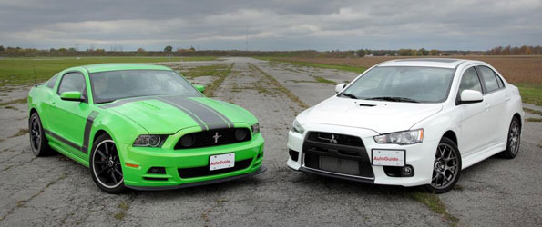 Ford Mustang Boss 302 vs Mitsubishi Evo