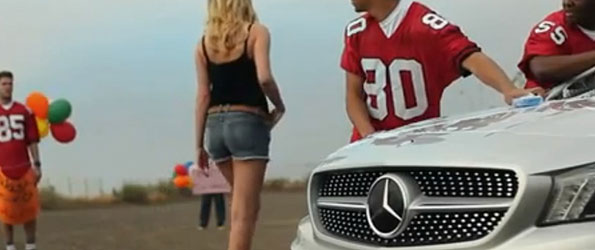 Kate Upton + Mercedes CLA (superbowl add)
