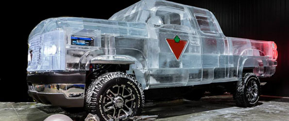 Canadian Tire Built a Truck Out of Ice