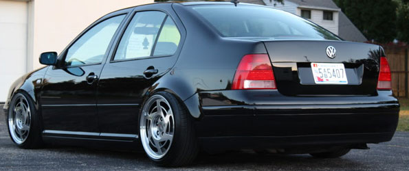 Jetta on Corvette C4 Rims
