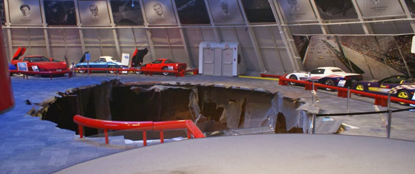 Catastrophe at National Corvette Museum as Sinkhole Swallows Showroom