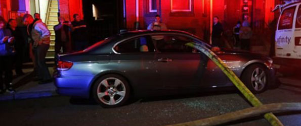 Boston Firefighters Smash BMW's Windows