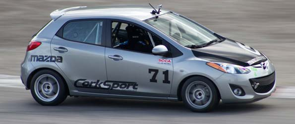 I drove a Mazda2 B-spec race car!