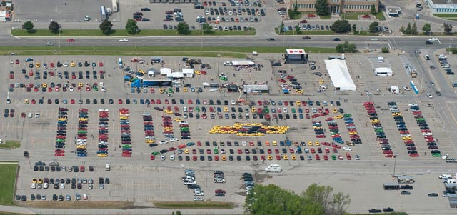 GM Canada Attempts Guinness World Record for Largest Car Mosaic