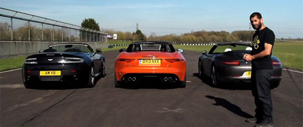 Jaguar F-Type V8S v Aston V8 Vantage Roadster v 911S Convertible – CHRIS HARRIS