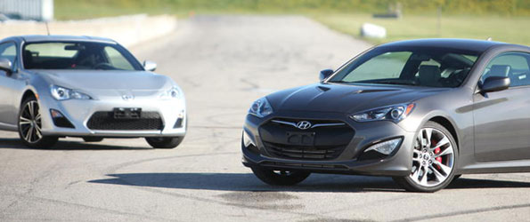 Scion FR-S vs Gen Coupe Track Shootout