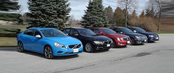 BMW 335 vs Audi S4 vs Mercedes C350 vs Cadillac ATS vs Volvo S60