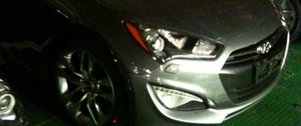 2013 Hyundai Genesis Spied With Veloster Nose