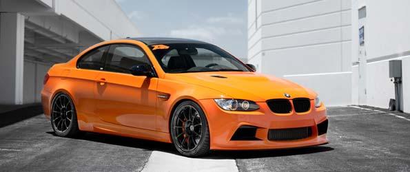 Supercharged Fire Orange BMW M3