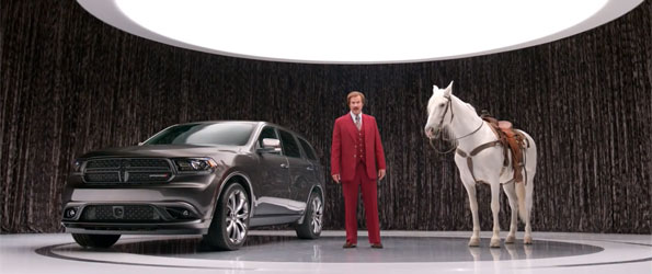 Ron Burgundy is spokeman for New Dodge Durango