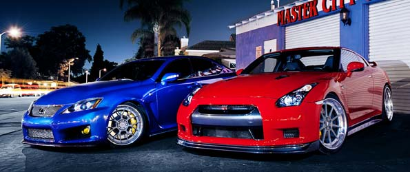 GT-R and IS-F photoshoot