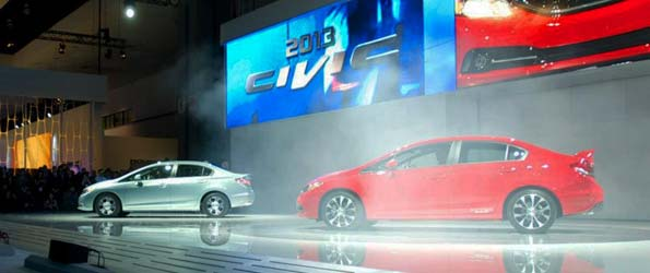 2013 Honda Civic revealed at the 2012 LA Auto Show