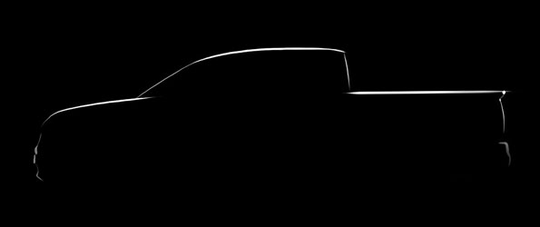 Silhouette of the next Honda Ridgeline